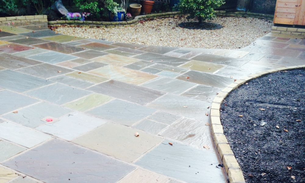 recent work for patios in altrincham