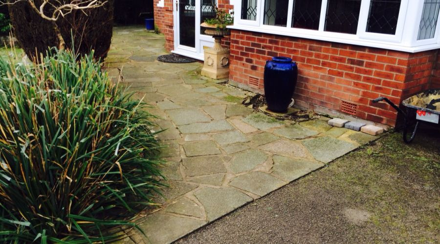 indian stone used for patio in altrincham